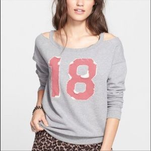 Free People Tops - NWT! Free People Football Sweatshirt!